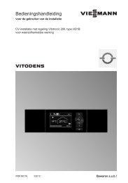 Bedienings- handleiding Vitotronic 200692 KB - Viessmann