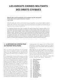 les avocats chinois militants des droits civiques - Ligue des droits de ...