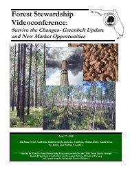 Forest Stewardship Workshop: - School of Forest Resources ...