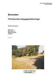 Bromsten - Stiftelsen Kulturmiljövård