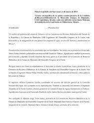 Versión de la Quinta Reunión Ordinaria 06 Marzo de 2013