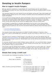 Donating to Insulin Pumpers - Insulin Pumpers UK