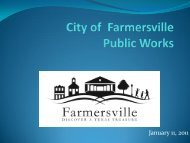 City of Farmersville Public Works Update and Issues