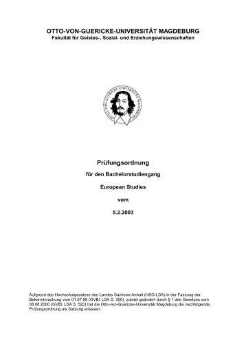 Bachelor PO 050203\374 - European Studies