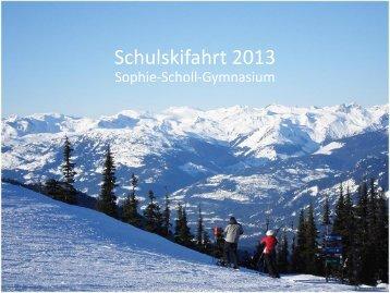 Schulskifahrt 2011 - Sophie-Scholl-Gymnasium