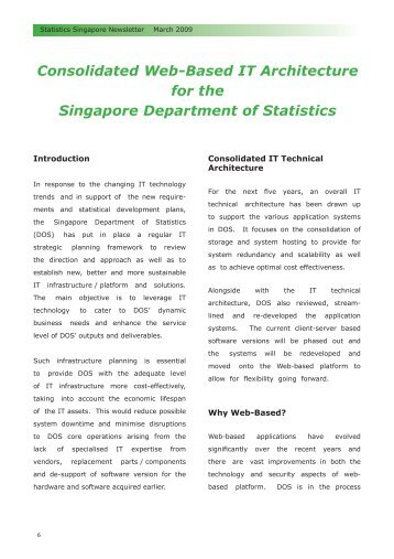 Consolidated Web-Based IT Architecture for the Singapore ...