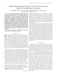 Relay Beamforming in Cognitive Two-Way Networks with Imperfect ...