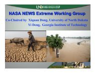 Extremes WG Update - NEWS (The NASA Energy and Water cycle ...