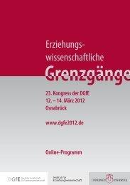 14. März 2012 Osnabrück www.dgfe2012.de Online-Programm