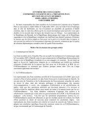 synthèse des conclusions de la tripartite plus d ... - mediacongo.net