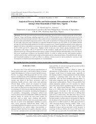 Analysis of Poverty Profiles and Socioeconomic Determinants of ...