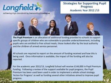 Pupil Premium at Longfield - UK.COM