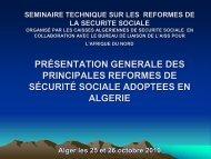 Présentation générale des principales réformes de ... - COOPAMI