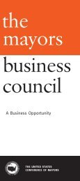A Business Opportunity - U.S. Conference of Mayors