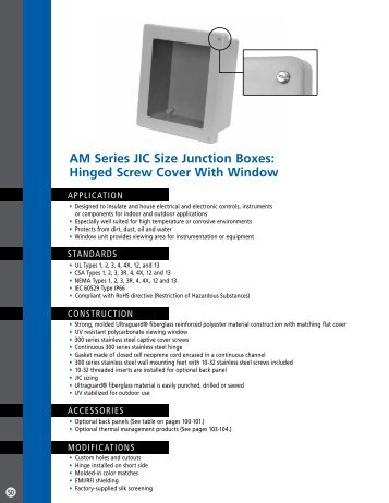Hinged Screw Cover With Window - Solutions Direct