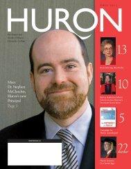 Meet Dr. Stephen McClatchie, Huron's new Principal Page 3