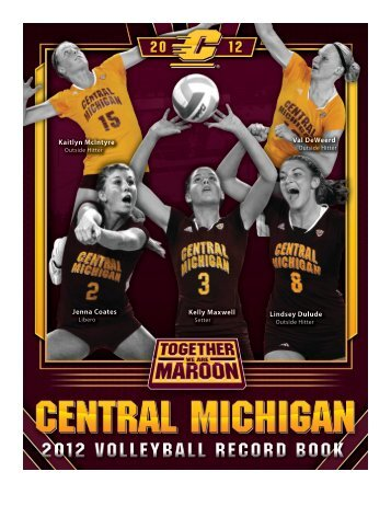 2012 Volleyball Record Book - Central Michigan University Athletics