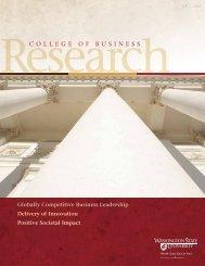 2008 - College of Business - Washington State University