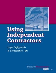 Using Independent Contractors Using Independent Contractors