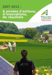 6 années d'actions, d'innovations, de résultats - Chambre d'Agriculture
