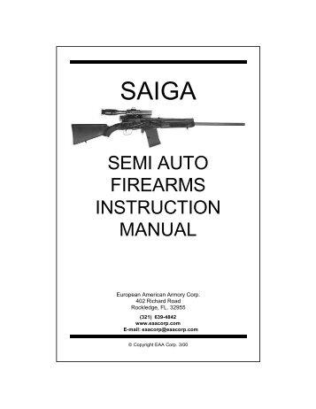 SEMI AUTO FIREARMS INSTRUCTION MANUAL - EAA