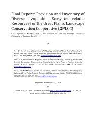 Final Report - Great Plains Landscape Conservation Cooperative