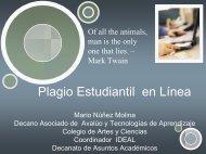 Plagio en línea - UPRM