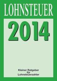 Lohnsteuer - Kleiner Ratgeber für Lohnsteuerzahler 2014 - Steuern