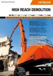 HIGH REACH DEMOLITION - Hitachi Construction Machinery