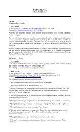 Code pénal français relatif à l'ESEC - Ecpat France