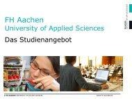 Studieren an der FH Aachen - Charlemagne Grenzregion