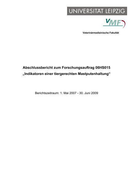 "Abschlussbericht zum Forschungsauftrag 06HS015 ""Indikatoren - BLE"