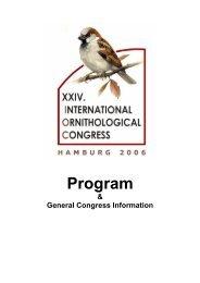 Program - International Ornithological Union