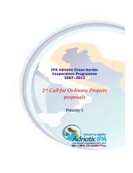 2nd Call for Ordinary Projects proposals - IPA Adriatic Cross-Border ...