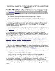SEPA Cat Exemptions
