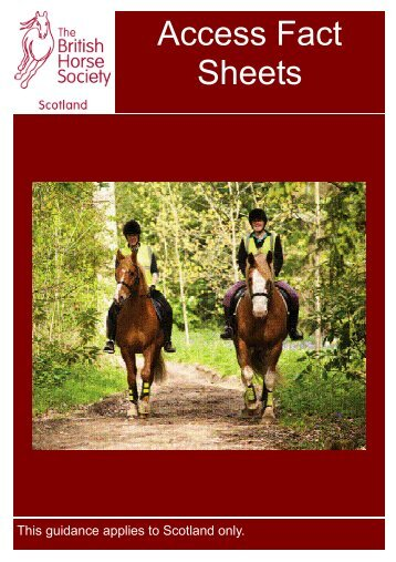 Access Factsheet - British Horse Society Scotland