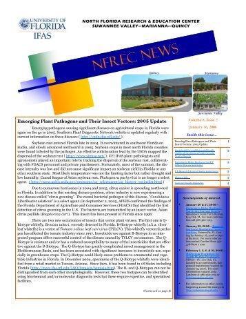 Vol.8 / No.2 - North Florida Research & Education Center