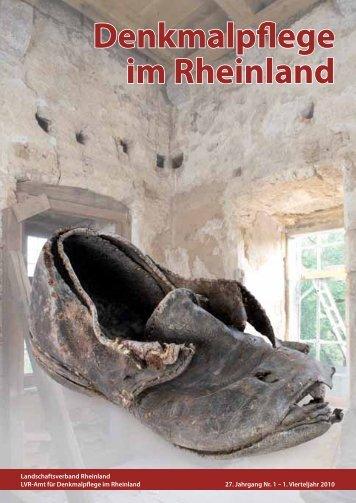 Eingemauerte Schuhe im gotischen Turm von Schloss Liedberg
