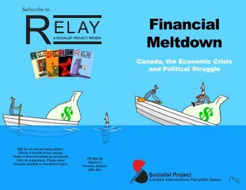 Financial Meltdown: Canada, the Economic Crisis ... - Socialist Project