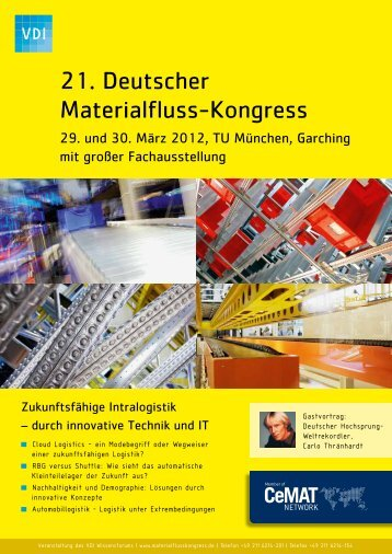intralogistics - VDI-Wissensforum