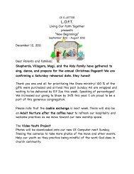 CE E-Letter Dec. 12, 2011 - First Congregational UCC Washington DC