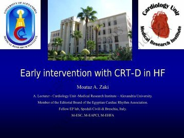 Early intervention with CRT-D in HF - cardioegypt2011