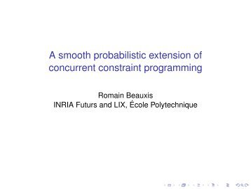 A smooth probabilistic extension of concurrent constraint programming