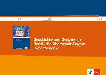 Geschichte und Geschehen Berufliche Oberschule Bayern