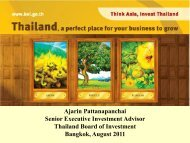 US - The Board of Investment of Thailand