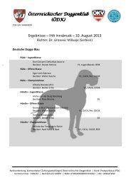 Ergebnisse – IHA Innsbruck – 10. August 2013 - Österreichischer ...
