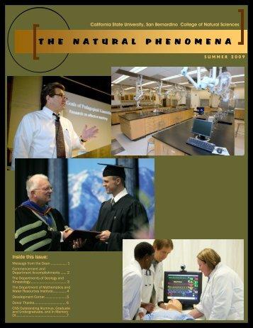 thenaturalphenomena - College of Natural Sciences - California ...