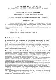 Etape 5 - Association Accomplir