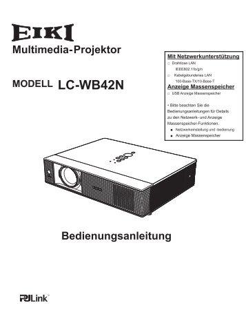 Bedienungsanleitung LC-WB42N - Eiki