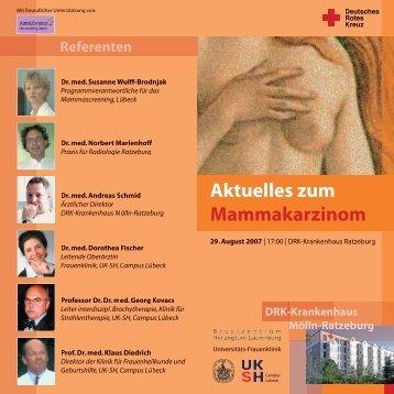 Programm und Anmeldung - Brustzentrum Herzogtum Lauenburg